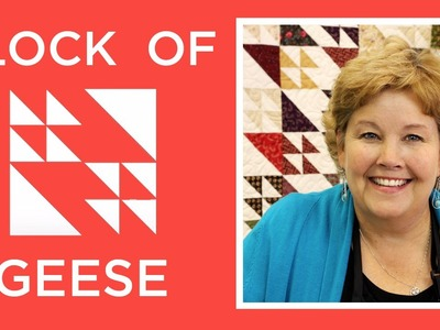 The Flock of Geese Quilt: Easy Quilting Tutorial with Jenny Doan of Missouri Star Quilt Co