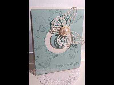 Butterfly Circle Spinning Card