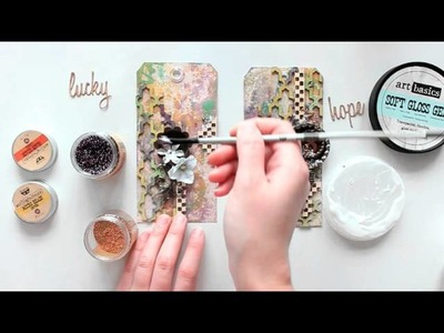 ColourArte - Start to finish mixed media tags tutorial