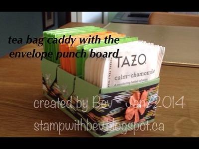 Envelope punch board tea bag caddy