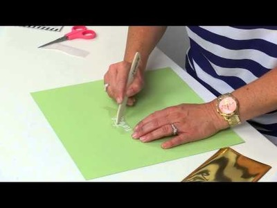 HOW TO USE FOIL ADHESIVE RUB ONS
