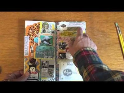 Midori Traveler's Notebook Weekly Collage - January
