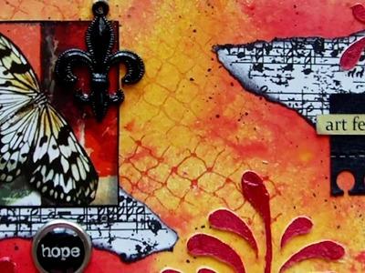 Mixed Media Art Postcard - Art Feeds The Soul