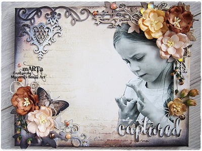 Mixed Media Canvas Tutorial 'Captured'