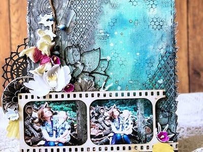 Mixed Media Canvas Video Tutorial by Evgeniya Zakharova
