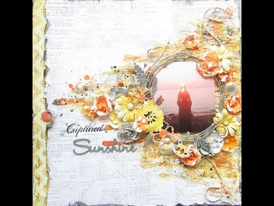 Mixed Media Sunset Layout for