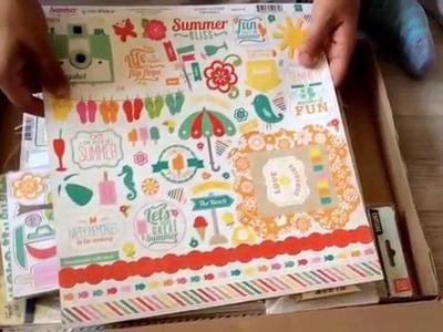 Scrapbooking Smash book Summer Kit 2014