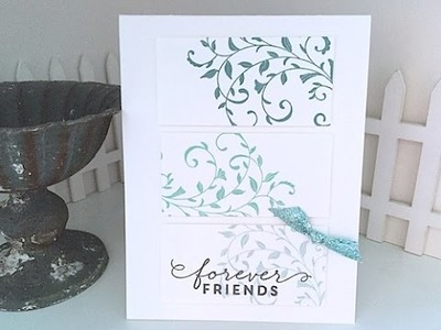 Simply Simple Forever Friends 3-Panel Card by Connie Stewart