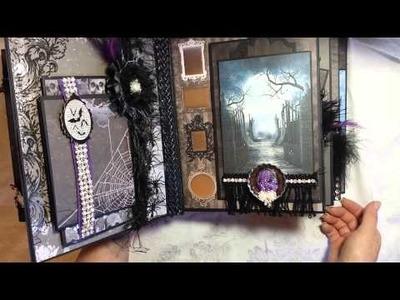 Spooky Haunted Romantic Gothic Halloween Mini Album 8x10