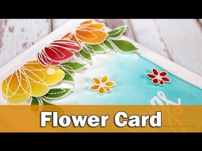 Spring flowers card