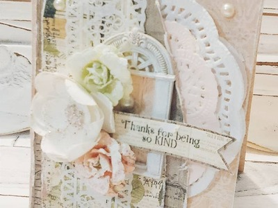 {USTREAM EDITION} SHABBY CHIC CARDS TUTORIAL - {PART 2}