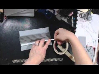Valentines mini album tutorial - Part 2 covers, binding attaching the pages