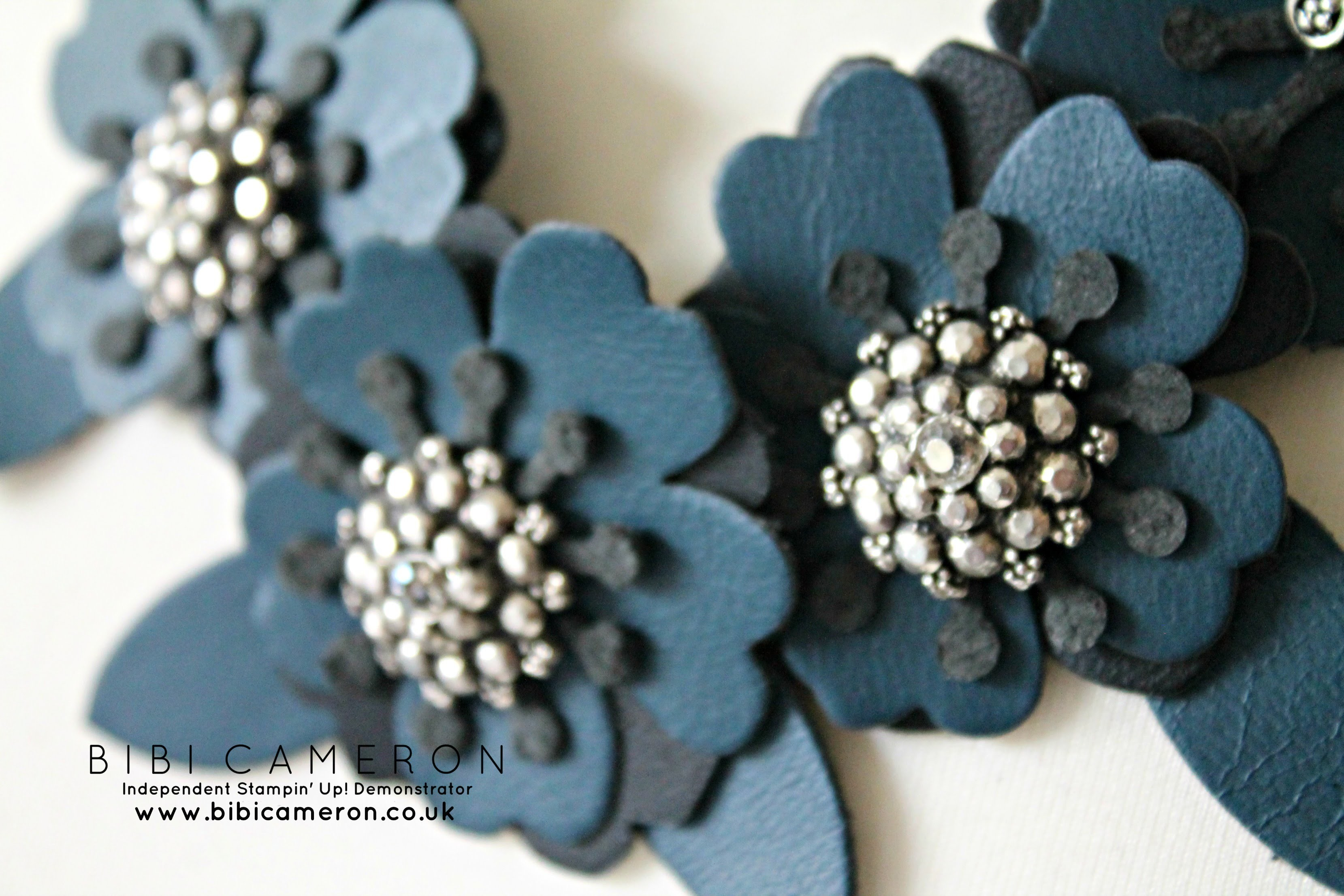 Cutting leather with Stampin Up dies (Bouquet Bigz L die DIY leather necklace)