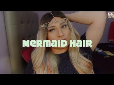 D.I.Y Summer Time Mermaid Dip Dye Ends ( Coral hair color )