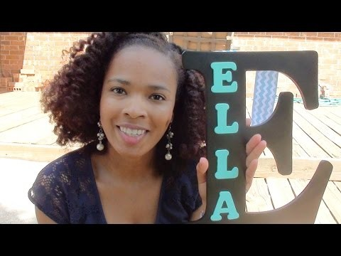 DIY Letter Themed Decorations | DIYCass