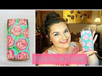 DIY Lilly Pulitzer Calculator | Hand Painted