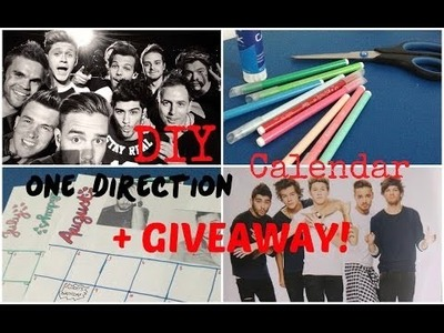 DIY One Direction Calendar + GIVEAWAY! (CLOSED)