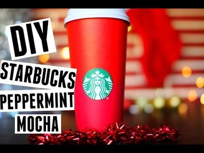 DIY Starbucks Peppermint Mocha♡