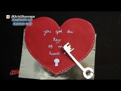 DIY Valentine's Day Key of Heart Greeting Card | How to make | JK Arts  854