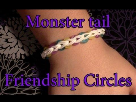 Friendship Circle Bracelet on Monster Tail Tutorial
