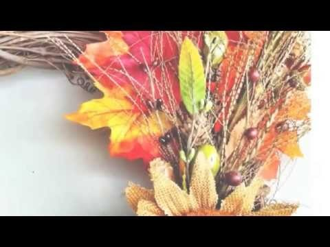 Make a Colorful Fall Holiday Wreath - DIY Home - Guidecentral