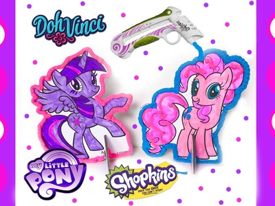 My Little Pony DIY Pop Out Art - DohVinci Play Doh Craft - Shopkins MLP Blind Bag Toy Surprises