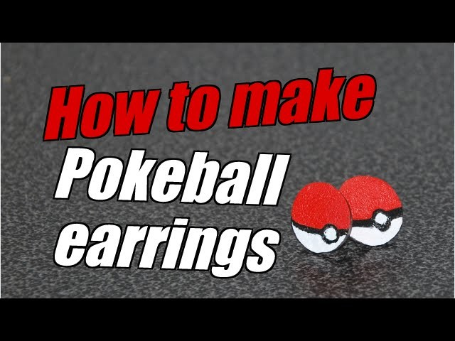 Poke-ball Earrings Tutorial