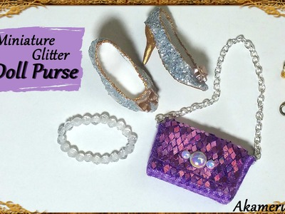 Sparkly Miniature Glitter Purse.handbag - Fabric Tutorial