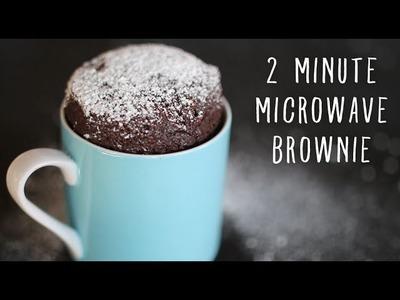 2 Minute Microwave Brownies in a Mug!