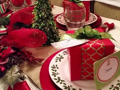 Christmas Tablescape and HomeTour  ~Dollar Tree Inspire~
