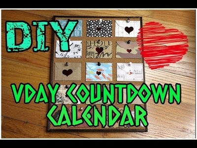 DIY Valentine's Day  GIFT IDEA: Countdown Calendar