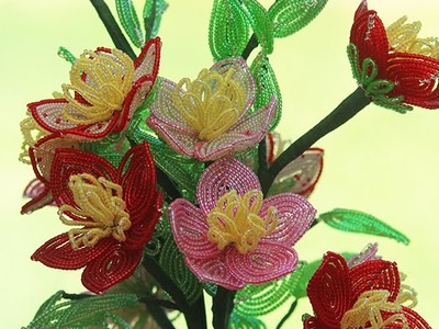 Fantasy Wildflowers - Intro to French beaded flowers - PART 2