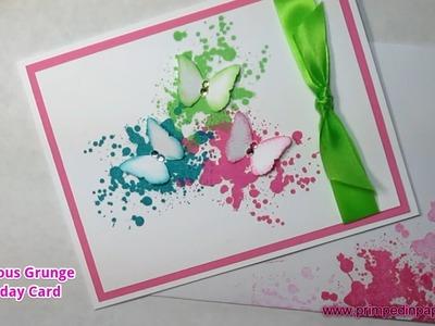 Gorgeous Grunge Birthday Card Tutorial