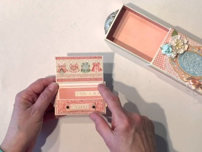Graphic 45 Precious Memories Matchbook Box and Tiny Mini Album