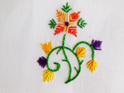 Hand Embroidery: Straight Stitch