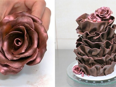 How To Make Modeling Chocolate - Chocolate Ruffle Cake