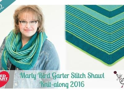 Marly Bird Garter Stitch Shawl Knitalong Week 2