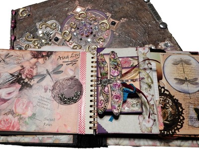 Mixed Media - Altered Fairy Book - Fairyland Interactive Pop-Up Journal.Album