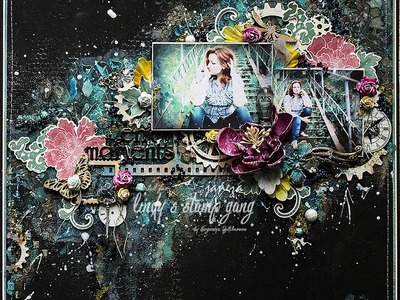 Mixed Media Layout Background Tutorial by Evgeniya Zakharova