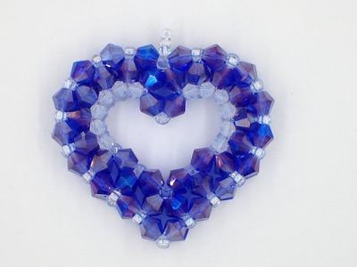 Open 3-D Heart Pendant
