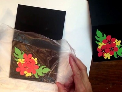 Press'n Seal Technique for Handmade Cards!