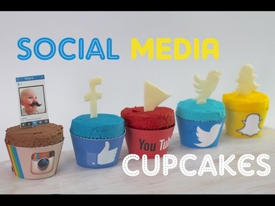 SOCIAL MEDIA CUPCAKES | Instagram, Snapchat, Facebook, YouTube & Twitter - In CAKE form!