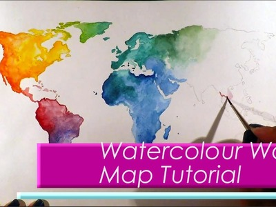 Wanderlust Watercolour World Map Painting Tutorial