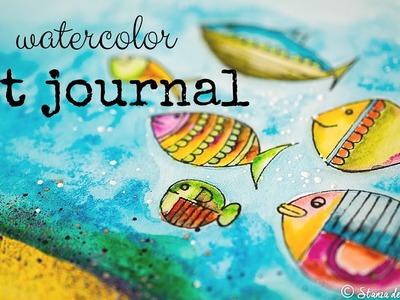 Watercolor Art Journal - Prima Oil Pastel - April