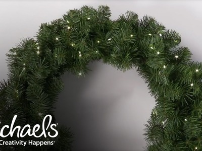 Add Lights to Your Wreath | Make It Merry | Michaels