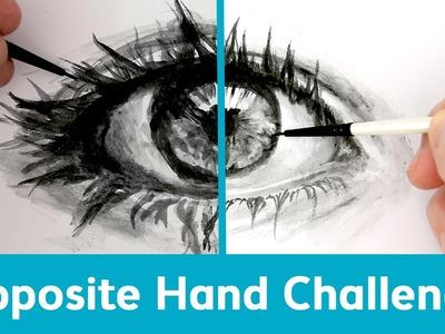 Art Challenge 5: Opposite Hand | Sea Lemon