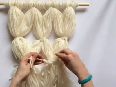 Beautiful Faux-Macrame Wall Hanging: No Knot Tying Skills Required!