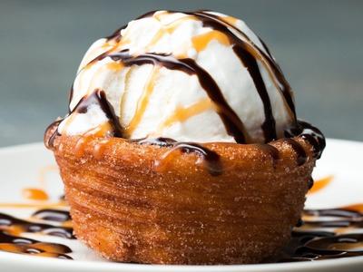 Churro Ice Cream Bowl