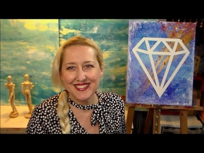 DIY Diamond Pop Art Painting {Quick & Easy!}