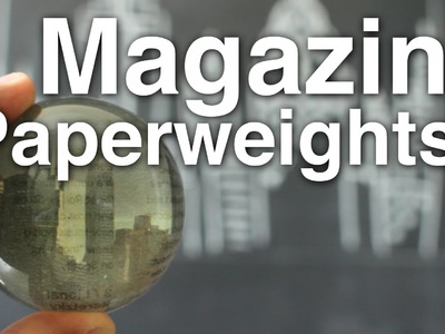 DIY Magazine Cut Out Paperweight!!